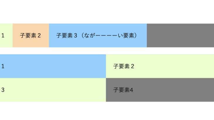 Flexボックスを使用して要素を横に上手に並べてみる【サンプル】